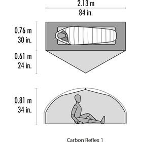 MSR Carbon Reflex 1 V4 Zelt green